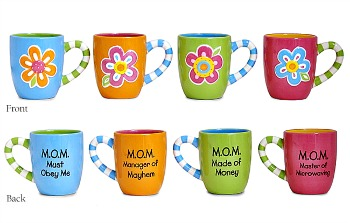 Mom Message Flower Mug by Burton & Burton