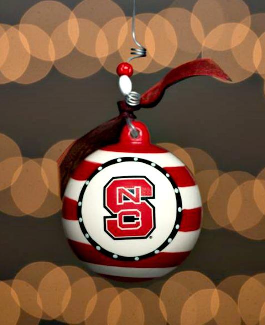 NCSU Stripe Ceramic Ornament **SOLD OUT**