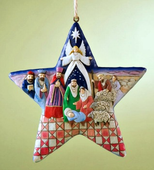 Nativity Star Hanging Ornament