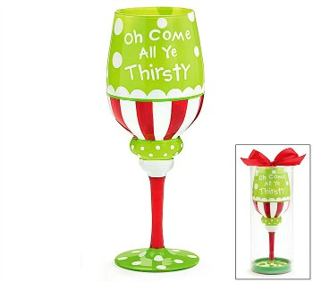 Oh Come All Ye Thirsty Wine Glass
