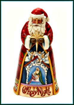 O Holy Night Santa Nativity Scene Figurine **SOLD OUT**