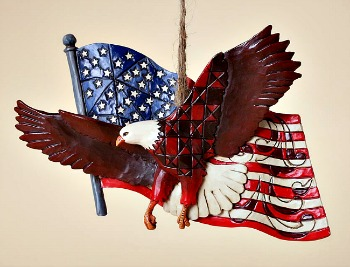 Patriotic Eagle Hanging Ornament **SOLD OUT**