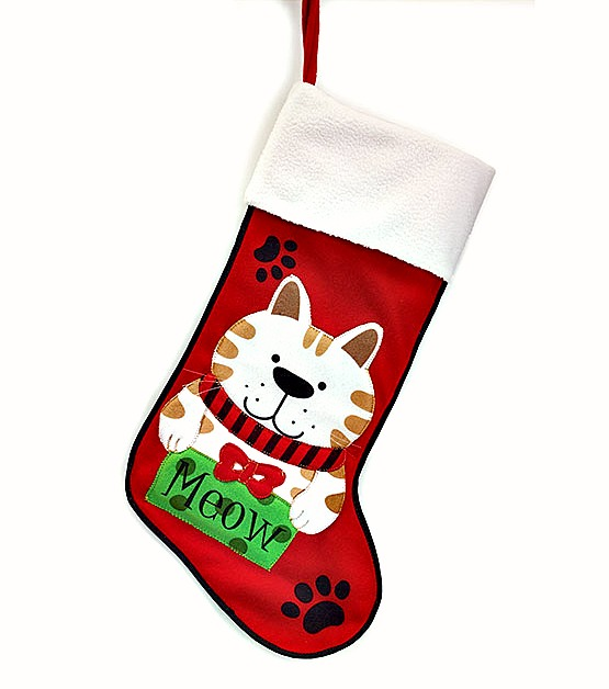 Paw Prints Cat Stocking **SOLD OUT**