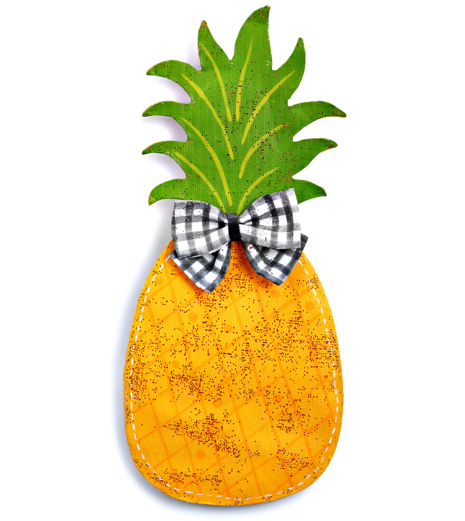 Pineapple with Bow Tie Door Hanger **NEW - NOW AVAILABLE**