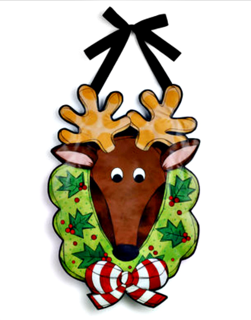 Reindeer with Wreath Banner **SOLD OUT**