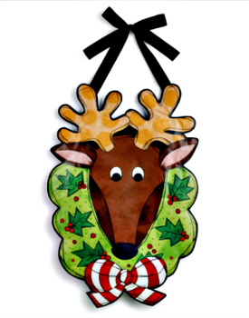 Reindeer with Wreath Banner **NEW - NOW AVAILABLE**