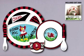 South Carolina Gamecocks Tailgatin\' for Tots Dinnerware Set **NOW AVAILABLE**