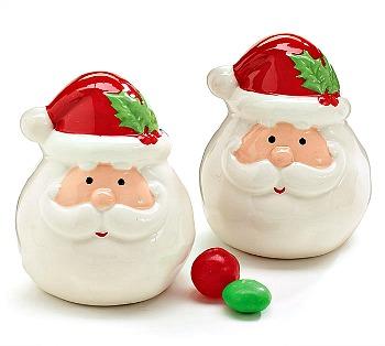Santa Head Salt & Pepper Shaker Set