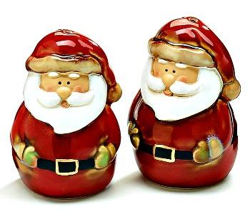 Santa Salt & Pepper Shaker Set