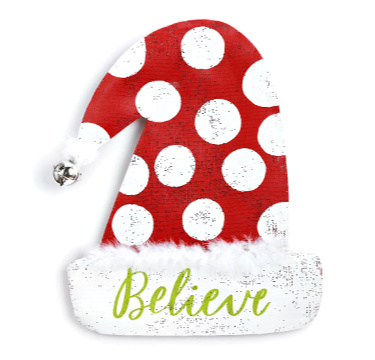 Santa Hat Door Hanger **NEW - NOW AVAILABLE**