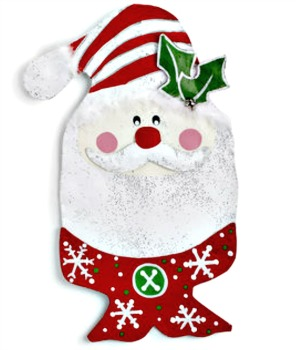 Santa Head with Scarf Door Hanger **NEW - NOW AVAILABLE**
