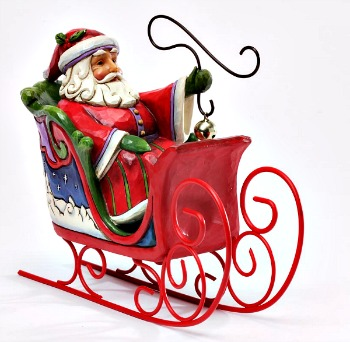 Jingle All the Way Santa in Sleigh Figurine **SOLD OUT**