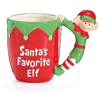 Santa's Favorite Elf Mug by Burton & Burton**NEW ITEM**