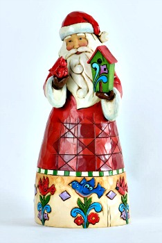 No Place Like Home for Christmas Santa with Birdhouse **SOLD OUT**