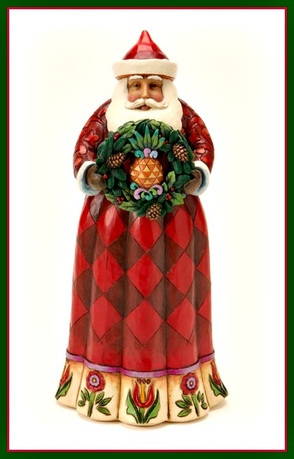 A Christmas Welcome Santa with Pineapple Wreath **SOLD OUT**