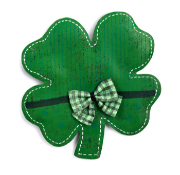 Shamrock with Bow Door Hanger **SOLD OUT**
