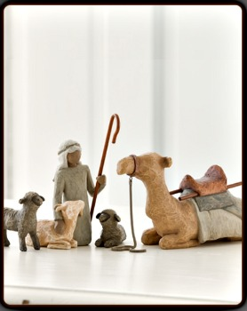 Shepherd and Stable Animals for the Classic Nativity