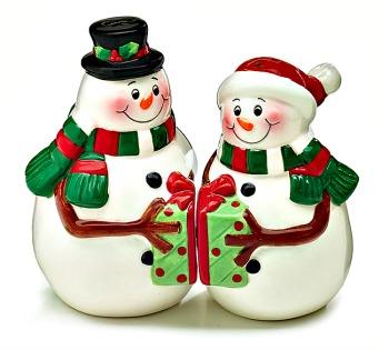 Snowman Couple Salt & Pepper Set
