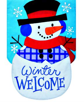 Winter Welcome Snowman Applique Mini Garden Flag **SOLD OUT**