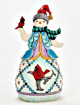 Snowman with Cardinal Figurine by Jim Shore Heartwood Creek **NEW**