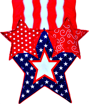 Stars and Stripes Applique Mini Garden Flag **NEW**