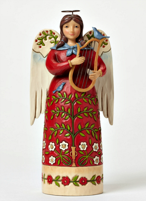 Strike a Chord for Christmas Williamsburg Angel with Harp by Jim Shore Heartwood Creek