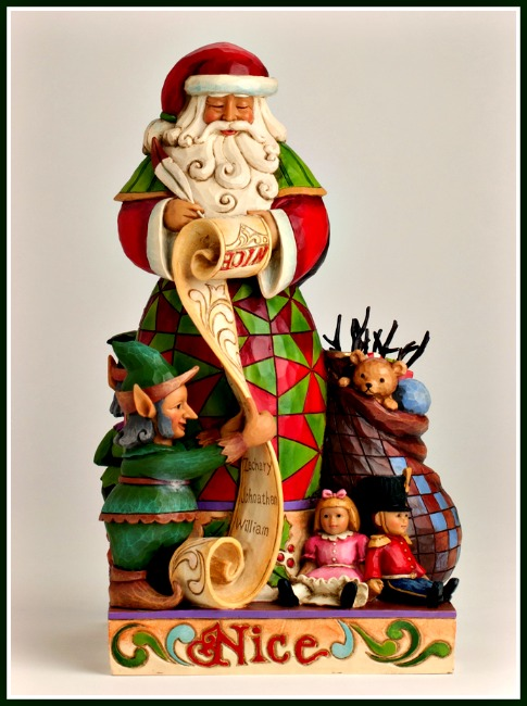Checking it Twice Two-Sided Naughty-Nice Santa Figurine**SOLD OUT**