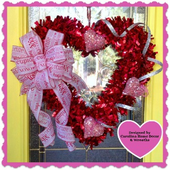 Valentine Wreath #7 - Heart Strings
