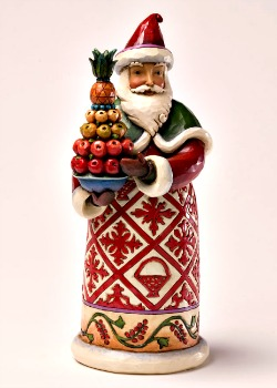 Feast and Be Festive Williamsburg Santa Figurine