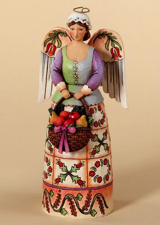 Christmas Bounty Williamsburg Angel Figurine