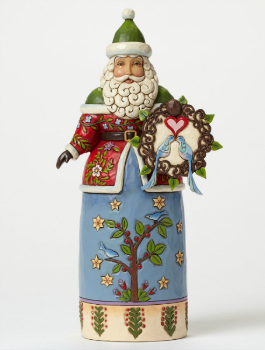 Wintry Welcome Williamsburg Santa with Wreath **SOLD OUT**